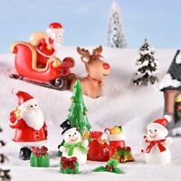 Dollhouse Miniature Christmas Tree Wreath Bear Snowman Gift Box Decor Supply Top