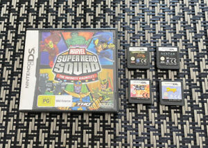 Lot Of 5 Nintendo DS Games Marvel Super Hero Squad Avatar Pirates Of The Caribbe