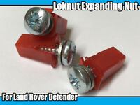 50x Floor Bulkhead Locknut Expanding Nut Screws Kit For Land Rover Defender