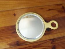 Vintage Hand Held Bakelite Mirror (Ivory Color)