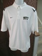 Nike Pitt Panthers Polo Shirt Mens Medium NCAA Pittsburgh Golf White