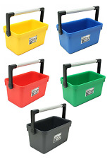 Wham Plastic Tool Storage Cleaning Tidy Caddy Box Carry Handle Choice of Colours