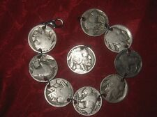 AUTHENTIC ARIZONA SOUTHWEST  BUFFALO NICKEL COIN BRACELET  PENDANT SET