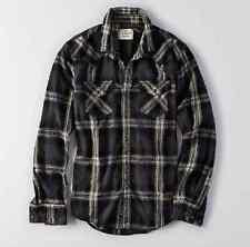 NWT【 L 】American Eagle AEO MEN'S Plaid Western Work Wear Shirt