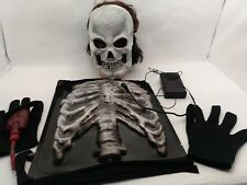 Bleeding Skeleton Parts Costume w/ Robot Monster Alien Microphone Voice Changer
