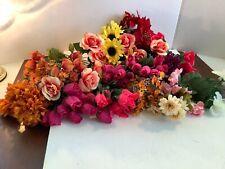 Lot/18 Assorted Artificial & Silk Flower Stems Floral Decor Crafts All Seasons
