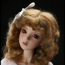 Dollmore BJD SD Wig 21-23 cm 8-9 inch MX Blended Real Mohair (Brown)