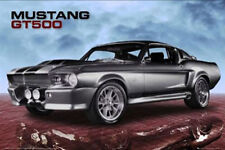 (LAMINATED) FORD SHELBY MUSTANG GT500 POSTER (61x91cm) MUSCLE CAR PICTURE PRINT