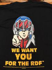 Macross Robotech T-Shirt Licensed 2 Sides Medium Single Stitch Vintage Anime1985