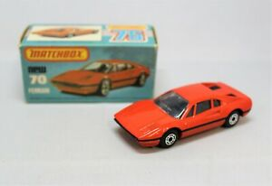 """Matchbox Lesney Superfast No70 FERRARI 308GTB in """" ORANGEY RED without TAMPOS """""""