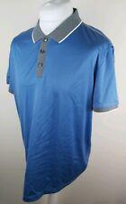 Mens Hugo Boss Mercerised Polo Shirt Xxl 2xl Blue Slim 46 Chest Golf Vgc