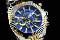 """Invicta Men's 50mm Bolt """"Blue Devil"""" Chrono dial Two-Tone Stainless Steel Watch"""