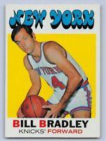 1971-72  BILL BRADLEY - Topps  Basketball Card # 2 - NEW YORK KNICKS