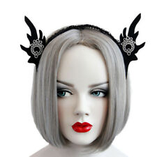 Headband Gothic Halloween Felt Elf Ears Branch Shape Lace Costume Ball Hairband