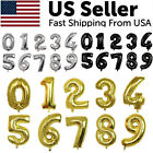 """32"""" Large Number Foil Balloon Digit Balloons Birthday Anniversary Decor Party US"""