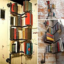 Vintage Industrial Urban Style Retro Pipe Shelf Storage Shelving Book DIY Decor