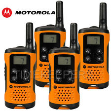 4Km Motorola TLKR T41 Walkie Talkie 2 Two Way PMR 446 Orange Radio Set Quad