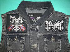 Mayhem black metal filles denim gilet gilet veste de coupure 25 ans de véritable BM