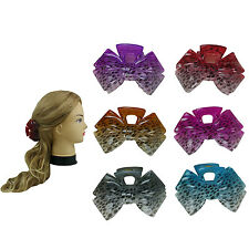 """6 PCS 3.5"""" Assorted Leopard Hair Jaws Comb Claw Clip Women Girl Accessory"""