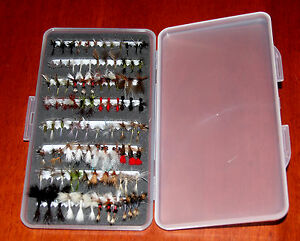 SS Fly Box Mixed Trout / Grayling Flies Wet Dry Nymph Buzzers 10 25 50 100