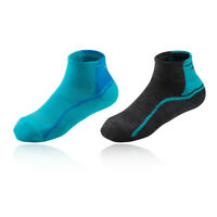 Mizuno Mens Active Training Gym Fitness Mid Socks Blue Sports Running Breathable
