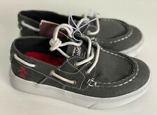 NEW! ORIGINAL PENGUIN SIDER GRAY BOYS BOAT SHOES SNEAKERS US 13  SALE
