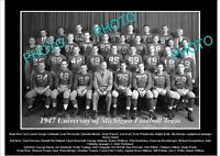 OLD LARGE HISTORIC PHOTO OF UNIVERSITY OF MICHIGAN FOOTBALL TEAM 1947