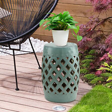 "New listing Outsunny 13"" Heavy Duty Patio Sturdy Ceramic Garden Stool Decorative Garden"