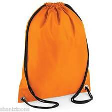 x10 Orange Drawstring Gym Sports School PE Bag Bulk Buy Job Lot