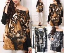 Cotton Blend Leopard Tops & Blouses for Women