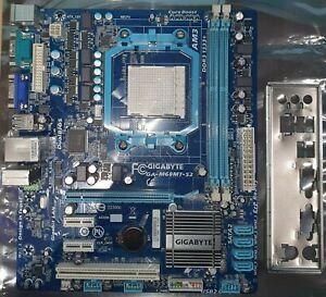 Gigabyte GA-M68MT-S2P Motherboard Socket AM3 System Board & Shield - Tested