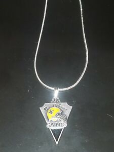 New Orleans Saints Necklace Pendant Sterling Silver Chain NFL Football
