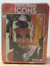 Audrey Hepburn Collector's Puzzle In Tin, ICONS by Stephen Fishwick, 750 Pieces