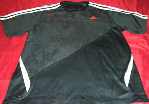 New MEN'S ADIDAS CLIMACOOL TENNIS,BASKETBALL,TRAIN S/S FITTED SHIRT BLACK  Sz M