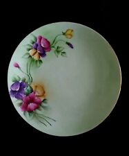 Vintage hand painted German porcelain dish Red Roses