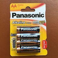 New Panasonic AA Alkaline High Power Batteries LR6 1.5V AM3 MN1500 - Pack of 4