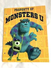 Disney Pixar Monster University Yellow Portfolio Folder Property Of Monster U
