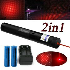 Astronomy 600Miles Red 1mw Laser Pointer Pen 650nm Beam+18650Batt+Char+Star Cap