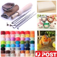 New 20 Colour Wool Needles Felt Tool Set + Needle Felting Mat Starter Kits DIY