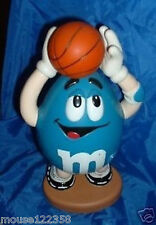 Tall M and M Candy Dispenser Blue Basketball Player Cute