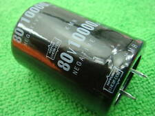 8 NIPPON 80V 10000UF Snap In Electrolytic Capacitors