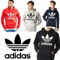 adidas Originals Mens Trefoil Hoodie Sports Hoody Hooded Jumper Sweatshirt Top