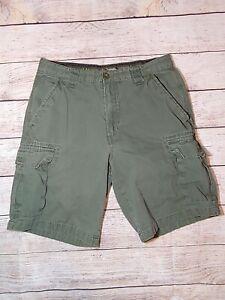 Boy Scouts Mens 32 Uniform Green Canvas Cargo Shorts BSA