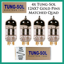 New 4x Tung-Sol Gold 12AX7 / ECC803S | Matched Quad / Quartet / Four Tubes