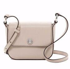 NWT $198 MICHAEL Michael Kors Rivington Cement Leather Large Flap Cross-Body Bag