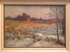 Heinrich Maier-Lindi ~ Winterlandschaft ~ Öl auf Hartfaser ~ 42,5 x 57,5 cm