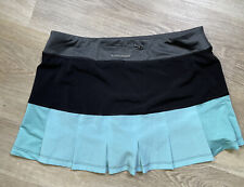 Womens Golf Exercise Skort Head Size Medium Black Turquoise Tennis