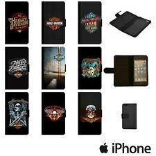 HARLEY DAVIDSON BUILT TO LAST FLIP WALLET PHONE CASE COVER APPLE iPhone HRLW00