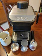 Krups 4 Cup Steam Espresso Coffee Machine XP1020 Black Stainless