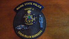 MAINE STATE POLICE TROOP C SKOWHEGAN  MAINE BARRACKS MAINE STATE TROOPER